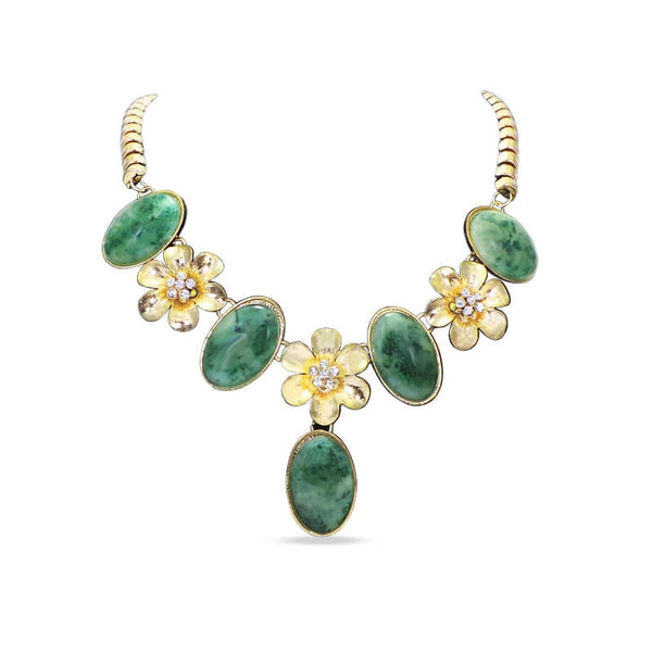 Mayo Khas Green Stone Necklace