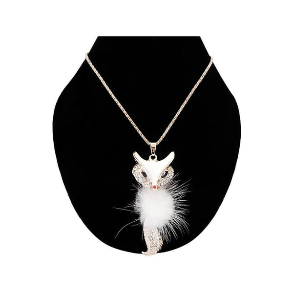 Mayo White Owl Pendent With Golden Chain 1 Pc