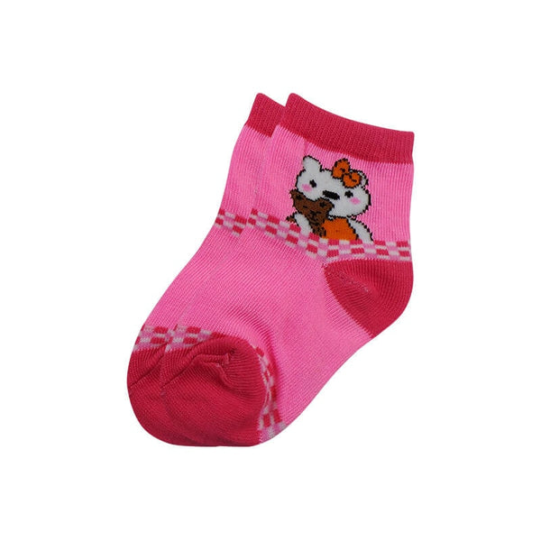 Mayo Safina Kids 1 To 4 Years Ankle Socks Pink Colour