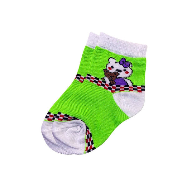 Mayo Safina Kids 1 To 4 Years Ankle Socks Light Green Colour
