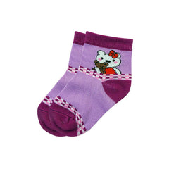 Mayo Safina Kids 1 To 4 Years Ankle Socks Purple Colour