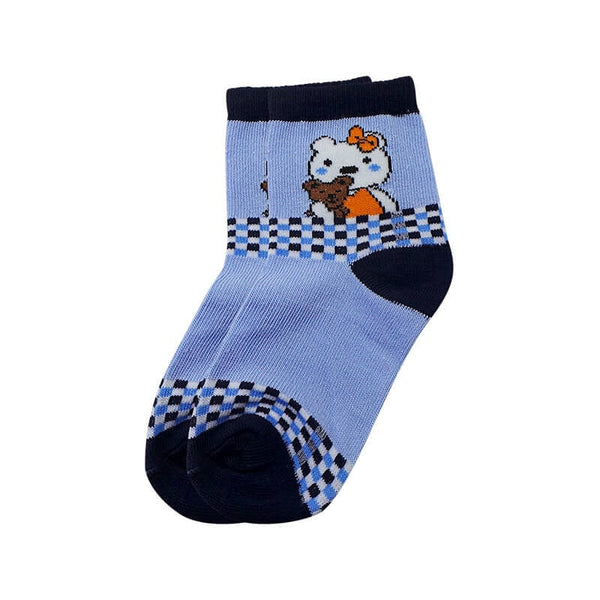 Mayo Safina Kids 5 To 8 Years Ankle Socks Light Blue Colour