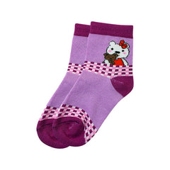 Mayo Safina Kids 5 To 8 Years Ankle Socks Purple Colour