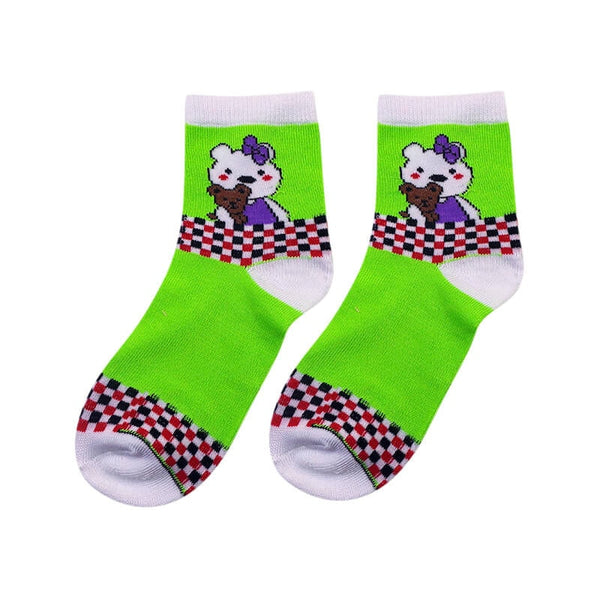 Mayo Safina Kids 9 To 15 Years Ankle Socks Light Green Colour 1 Pc