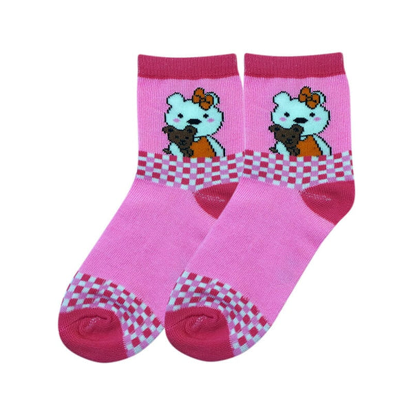 Mayo Safina Kids 9 To 15 Years Ankle Socks Light Pink Colour 1 Pc