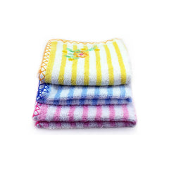 Mayo Safina Soft Towels Parallel Lines Print Yellow Pink & Blue