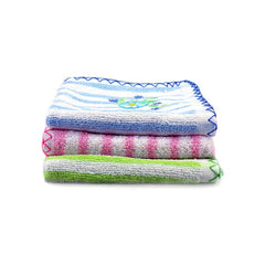 Mayo Safina Soft Towels Parallel Lines Print Pink Green & Blue