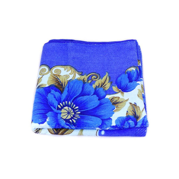 Mayo Soft Kids Towels Flower Print Blue