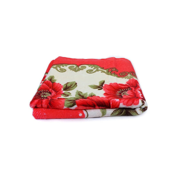 Mayo Soft Kids Towels Flower Print Red
