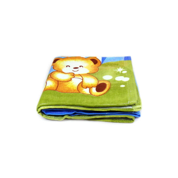 Mayo Soft Kids Towels 2 Teddy Bear Print Green&Blue