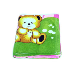 Mayo Soft Kids Towels 2 Teddy Bear Print Green&Pink