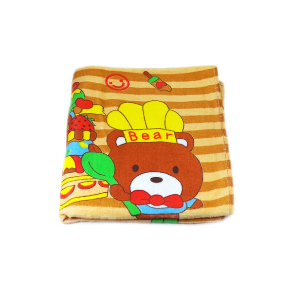 Mayo Soft Kids Towels Chef Teddy Bear Print Brown