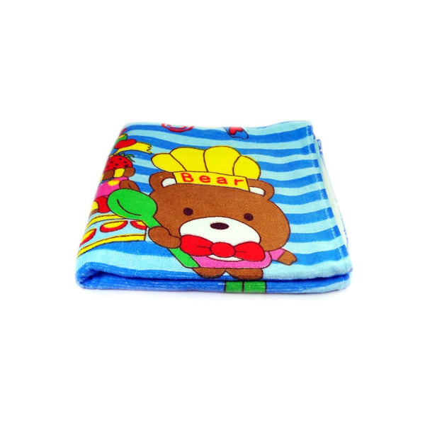 Mayo Soft Kids Towels Chef Teddy Bear Print Blue