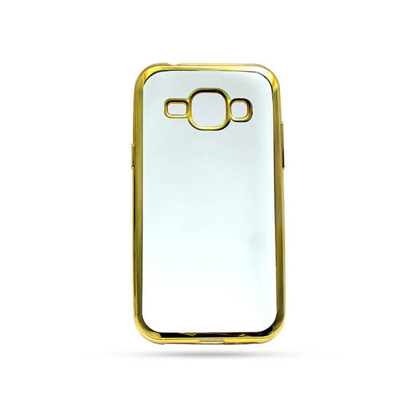 Samsung Galaxy J1 Mobile Back Case  Golden
