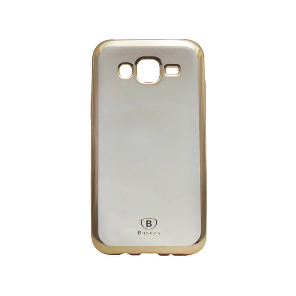 Samsung Galaxy J5 Mobile Back Case Golden Colour