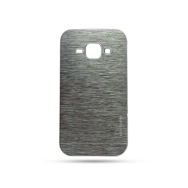 Samsung Galaxy J1 Mobile Metal Back Case Silver