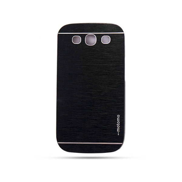 Samsung Galaxy S3I 9300 Mobile Metal Back Case Black