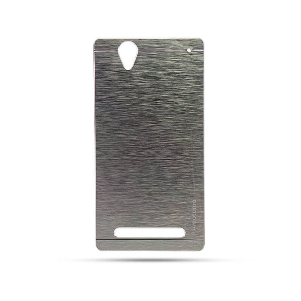 Sony Xperia T2 Mobile Metal Back Case Silver