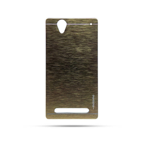 Sony Xperia T2 Mobile Metal Back Case Golden