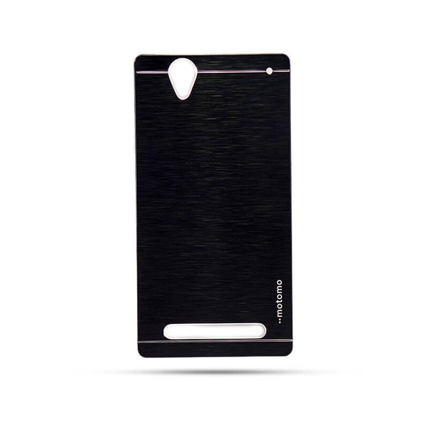 Sony Xperia T2 Mobile Metal Back Case Black