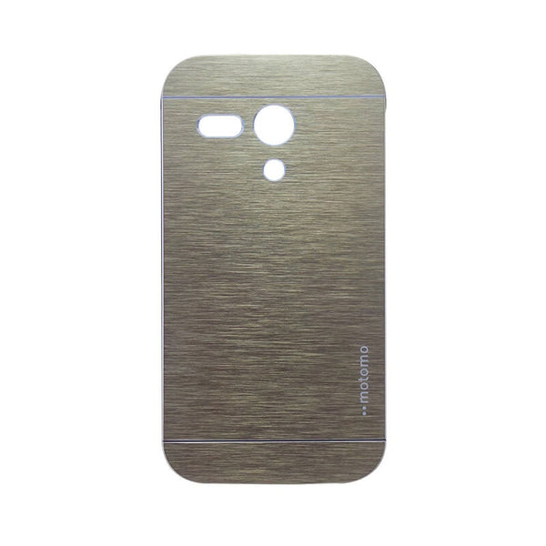 Moto G Mobile Metal Back Case Golden