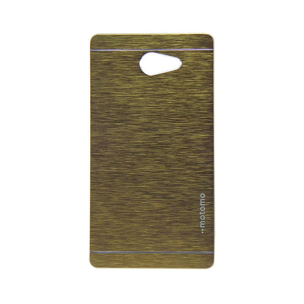 Sony Xperia M2 Mobile Metal Back Case Golden