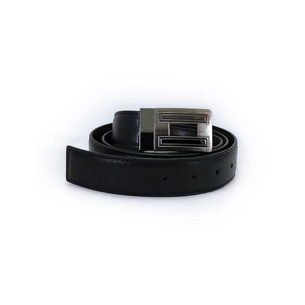 Mayo Mens Auto Lock Black & Brown 2 in 1 Belt
