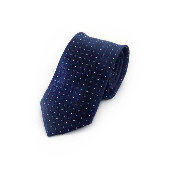 Mayo Design Tie Navy Blue