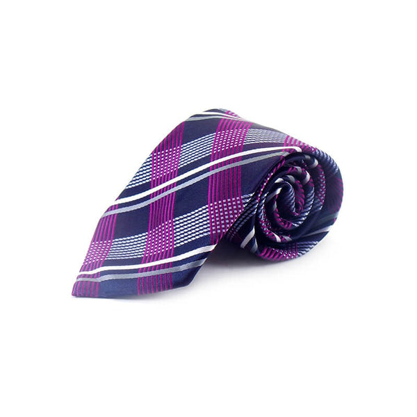 Mayo Design Tie Sky Blue, Purple & Gray 1 Pc