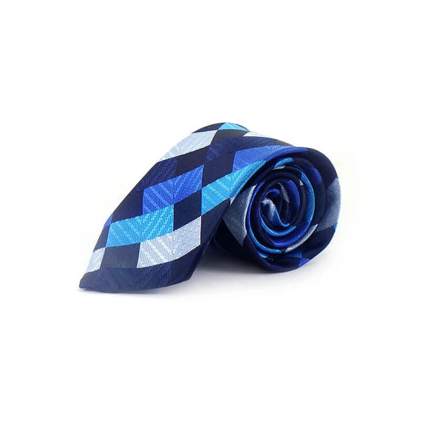 Mayo Design Tie black,greay,blue & dark blue 1 Pc