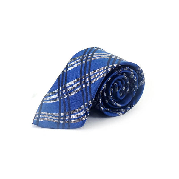 Mayo Design Tie dark blue, greay & black lining