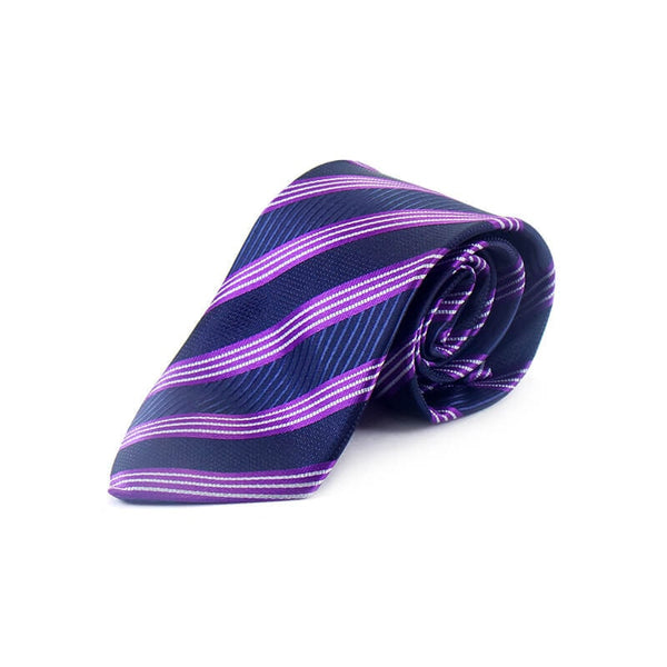 Mayo Design Tie dark blue, purple & white lining