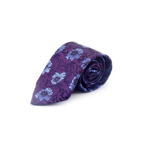Mayo Design Tie purple & flower printed