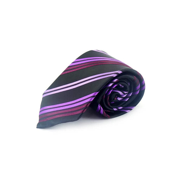 Mayo Design Tie black & purple lining