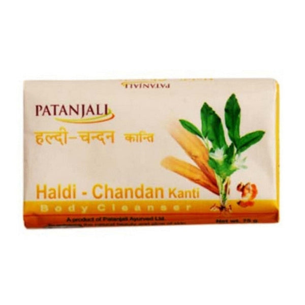 Ramdev Patanjali Haldi Chandan Kanti Body Cleanser Soap
