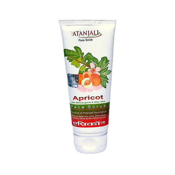 Ramdev Patanjali Apricot Scrub Face With Wheat Germ & Aloe Vera