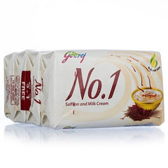Godrej No.1 Saffron & Milk Cream Soap 4 x 65 Gm