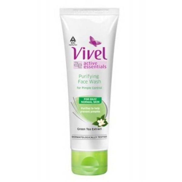 Vivel Green Tea 3-In-1 Face Wash + Scrub 100 Ml