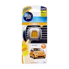 Ambi Pur Light Citrus Vent Clips Car Air Freshener