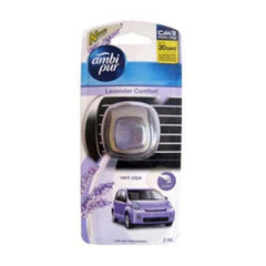 Ambi Pur Lavender Comfort Vent Clips Car Air Freshener - BazaarCart Best Online Grocery Store
