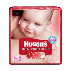 Huggies Total Protection Xl Over 12 Kg 15 Diapers