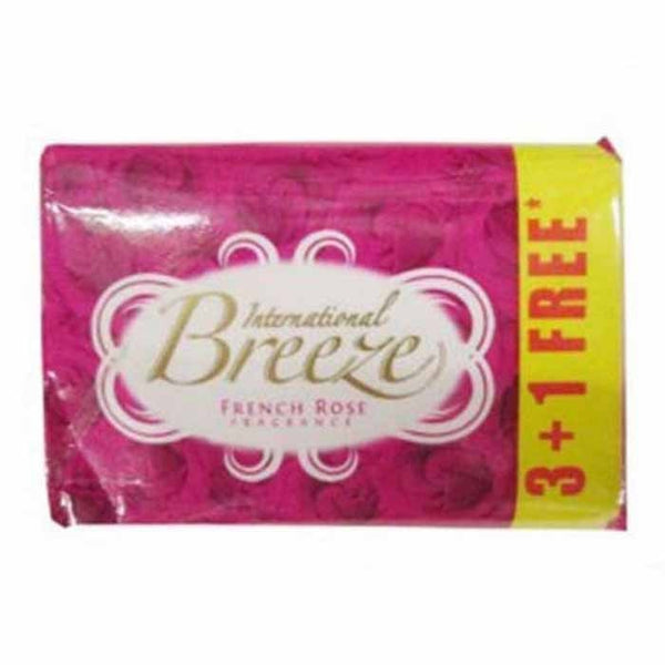 Breeze French Rose Fragrance Soap 4 x 60 Gm