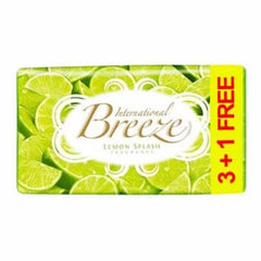 Breeze Lemon Splash Fragrance Soap 4 x 60 Gm