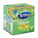 Tetley Green Tea With Lemon & Honey Tea Bags 10 Bags