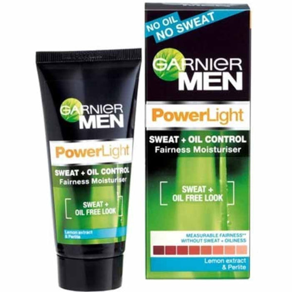 Garnier Men Power Light Sweat + Oil Control Fairness Moisturiser Lemon Extract