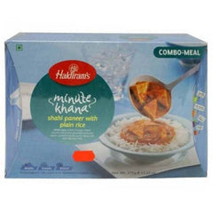 Haldiram Minute Khana Shahi Paneer With Plain Rice 375 Gm