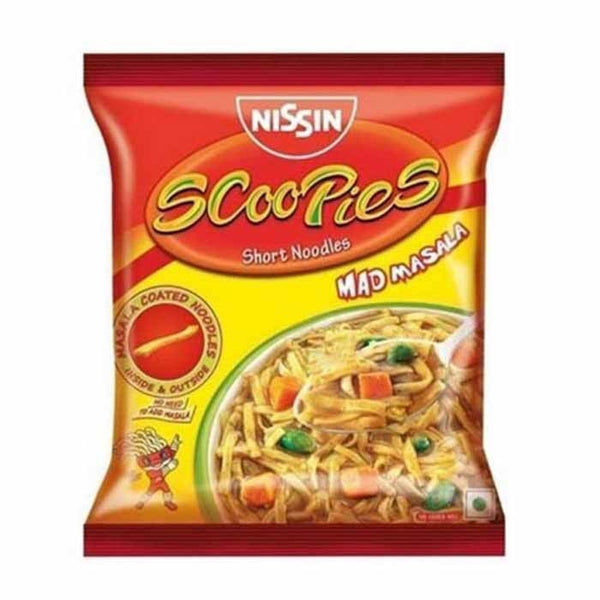 Nissin Scoopies Short Noodles Mad Masala 70 Gm