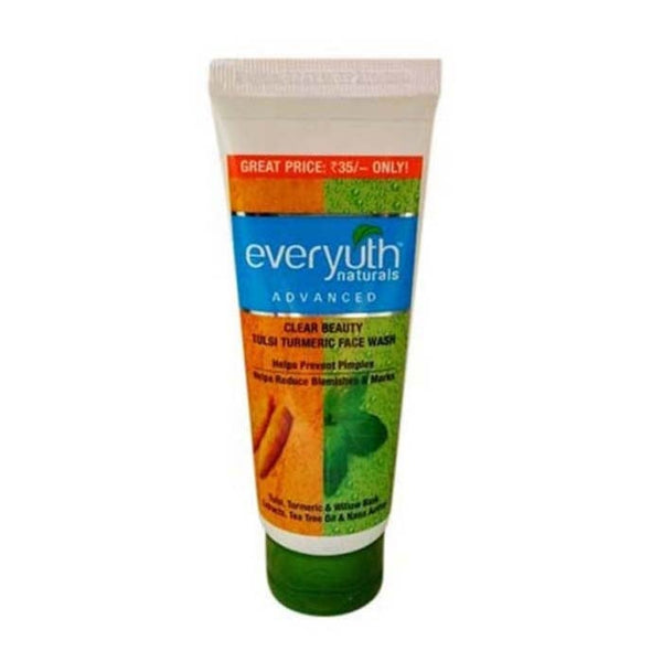 Everyuth Naturals Clean Beauty Tulsi Turmeric Face Wash 50 Gm