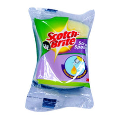 SCOTCH BRITE SCRUB SPONGE 10-6 CM PACK OF 2
