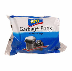 "ARO GARBAGE BAGS 30""X 50"" 15BAG"